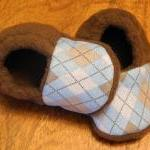 Blue and Brown Argyle Fleece Baby B..