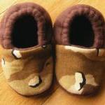 Camo Fleece Baby Booties