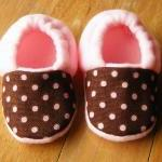 Brown with Pink Dots Fleece Baby Bo..