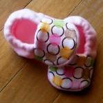 Circle Chain Fleece Baby Booties/ P..