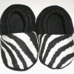 Zebra Print Fleece Baby Booties