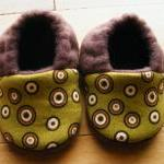 Mod Brown Circles Fleece Baby Booti..